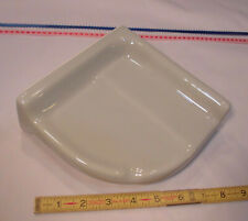 "Ceramic *Slate Gray* Reversible Corner Bath-Shower Soap Dish-Tray-Shelf 7"" NEW"