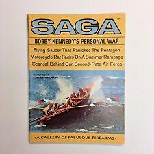 Vintage SAGA Men's Magazine July 1967 Bobby Kennedy Flying Saucer Surfboat