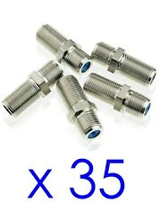 35 PPC Coax Cable Connector Barrel Splice CF81GHZM F81 Female RG6 HD 3GHZ RG11