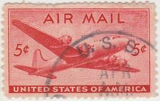 (UST-24) 1941 USA 5c red mail plane air mail (K)