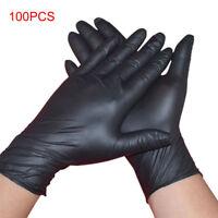 100 Pcs Disposable Powder Free Mechanic Gloves Nitrile Black Medical Exam Gloves