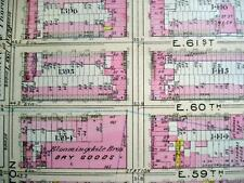 NYC Map, BLOOMINGDALES E 57st to E 68 Wall Map, LEXINGTON AVE to EAST RIVER, #27