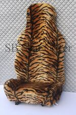 NISSAN PRIMERA/ ALMERA CAR SEAT COVER -GOLD TIGER FAUX  FUR - FULL SET