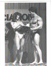 Ms Olympia Rachel McLish  /Mr Olympia Frank Zane Bodybuilding Contest Photo B+W
