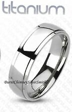 Solid Titanium Name Ring Friendship Ring Optional Hand Stamping T3065