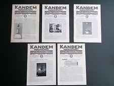 5 Kandem company bulletins 1931 and 1932 | Bauhaus Modernist lighting design