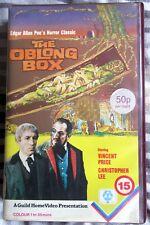 THE OBLONG BOX, VHS PAL GUILD PRE CERT EX RENTAL VINCENT PRICE CHRISTOPHER LEE