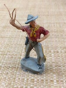 Chialu Cowboy with Lasso Toy Soldier Composition Made in Italy 1950's