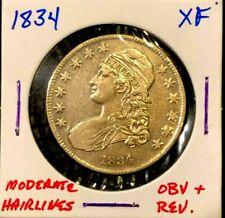 1834 Us Silver Capped Bust Half Dollar 50c Xf Ef