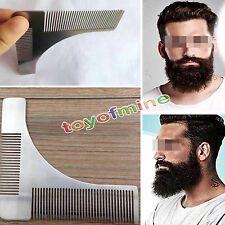 New Metal Beard Comb Stainless Steel Hair Comb Beard Shaping Shaving Tool Comb
