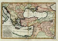 Ottoman Empire Turkey Anatolia Greece Levant Black Sea 1780 Kurdistan map