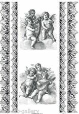 RICE DECOUPAGE PAPER  /  ANGELS BAROQUE 2  / CRAFT PAPER / DECOUPAGE SHEETS