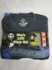The Nightmare Before Christmas Mens 2 Pc Sleep Set Disney Pajamas Skellington