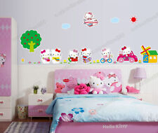 Grand hello kitty amovible wall stickers art decal filles chambre enfants papier peint
