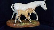 Very Rare Royal Doulton Gude Grey Mare And Colt Foal Hn 2519