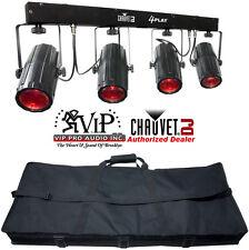 Chauvet 4Play Portable DJ LED Light Bar Rotating Beams 6-Channels Of DMX Control
