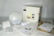 Philips Wake-up Light HF3550 White With Colored Sunrise and iPhone Adapter