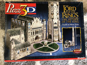 Lord of the Rings - Minas Tirith Puzz 3D 809 Pcs (Incomplete/Pre-Owned)