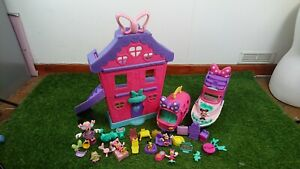 Fisher Price Disney Minnie Mouse House Home Sweet Headquarters yacht Van Bundle