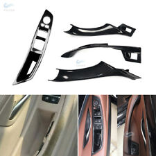 R/LHD Carbon Fiber Inner Door Handle Switch Panel Cover for BMW 5 Series F10 F18