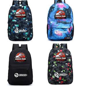 Jurassic Park World Backpack School Bag Dinosaur Shoulder Bag Travel Leisure bag