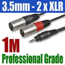 3.5mm 1M PLUG JACK to 2 x XLR MALE PLUG CABLE | 299