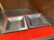 Two la-z-boy Aluminum Decor Square Dishes From The Todd Oldham Collection