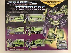 Transformers G1 Devastator Reissue Brand New & Sealed