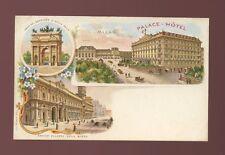 Italy MILAN Palace Hotel M/view c1902 chromo u/b PPC