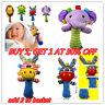 Boys Girls Newborn Baby Soft Sound Animal Plush Handbells Squeeze Rattle Toy UK