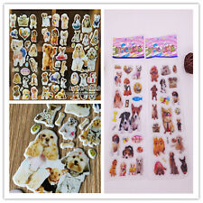 5pcs(no repeat) pets dogs Bubble stickers-girls favor stickers lot