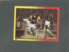 1982 O-Pee-Chee Baseball Sticker 1981 ALCS Yankees Oakland #254 *MINT*