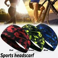 Mens Womens Sweat Sweatband Headband Yoga Gym Running Stretch Head Band Spo I4E9