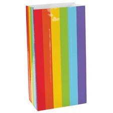 12pk RAINBOW Mini Sacs 7.8cmx16.5cm Pride Fête D'Anniversaire Faveurs Loot Sacs Cadeau
