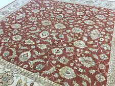 12 X 12 Rust Beige Square Ziegler Persian Oriental Area Rug Large Hand Knotted
