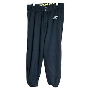 Rawlings Women's Size S Softball Athletic Sports Pants Black Elastic Waist