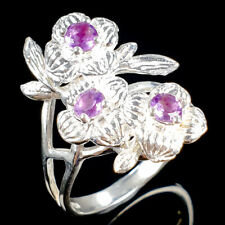 Handmade SET Natural Amethyst 925 Sterling Silver Ring Size 8.5/R109432