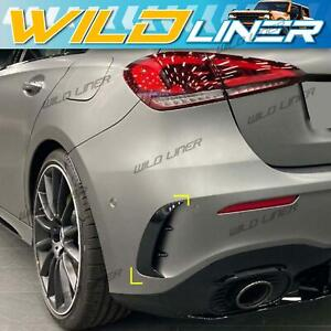 Rear Bumper Canards Flaps Vent For 18-up Mercedes Benz W177 Hatch A35 A45 AMG