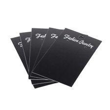 ❤ 25 x Wholesale BLACK Jewellery Earrings Display Cards 90mm x 50mm UK ❤
