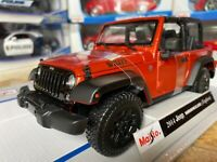 Jeep Wrangler Topless Maisto 1:18 Scale Diecast Metal Model Toy Car New in Box