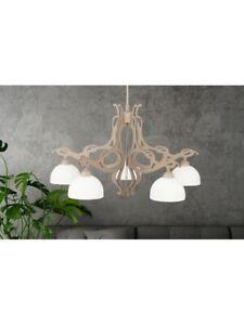 Modern Chandelier Beige Havana Shabby Chic Hanging 5 Lights Dese-188