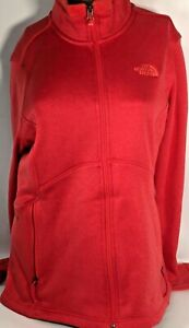 The North Face Embroidered Logo Womens Large Fleece Lined Pink Jacket Pullover