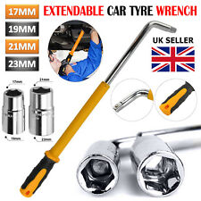 17 19 21 23mm HEAVY DUTY Extendable Car Wheel Brace Socket Tyre Nut Wrench 6-18