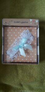 MR & MRS/Bride And Groom..Bride Garter Gift..Wedding hen do etc NEW..Boxed