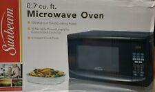 Sunbeam 0.7 Cu Ft Digital Microwave Oven - Black