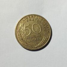 50 centimes LAGRIFFOUL 1963 col 4 plis Num15