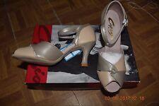 Tan/Or Capezio Cabaret BR20 Sandale Salle De Bal Danse Latine Chaussures-Taille UK 1.5