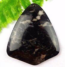 Beautiful unique natural shield Dragon Blood stone pendant bead JA059