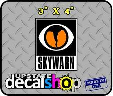 TWO 3 x 4 SKYWARN SPOTTER Sticker Custom NWS Storm chaser NOAA HAM Sign ecom
