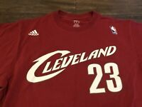 LeBron James Cleveland Cavaliers NBA adidas Mid 2000s Design Medium Red T Shirt